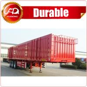 Quality Shandong Fudeng Coal transporting dry van type box truck Enclosed cargo semi trailer for sale