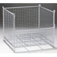 Quality Warehouse IBC Metal Cage Wire Storage Cage 800kg Load Weight Stackable Boxes for sale