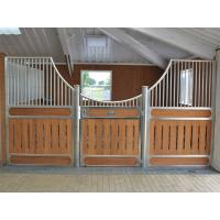 Quality Customized Metal Bracket European Horse Stalls With Required Wood for sale