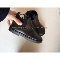 China Wholesale Cheap China Low Price 7000 pairs Genuine Leather Kids Shoes Boot Stock on sale