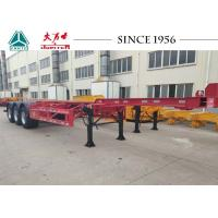 Quality 40 Foot Container Trailer , Tri Axle Skeletal Trailer For Cold Chain Transport for sale