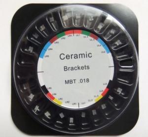 Quality Passive Slide Design Ceramic Dental Braces With Mbt .018'' 3 4 5 Hook for sale