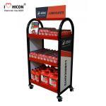 Quality Create More Value Floor Metal Display Racks Lubricating Motor Oil Display Shelf for sale