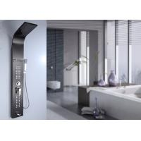 Quality Polished Black Painting Shower Panel System 0.8mm Thick SS Body Frame ROVATE for sale