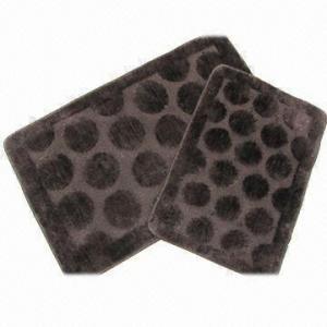 China Microfiber Jacquard Bath Mat/Rug/Carpet with 1.5cm Pile Height on sale