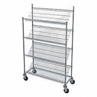 "Quality Rust Proof Slanted Wire Shelving Rack Unit Chrome Finish 14""D X 30""W X 48""H for sale"