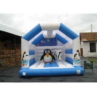 China Customized Penguin Theme Inflatable Bounce Houses / Inflatable Jumping House for Kids on sale