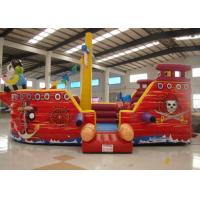 Quality Double Stitching Pirate Bounce House , Pirate Ship Inflatable Bouncer 10 X 5 X 4m for sale