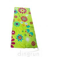 China Folded And Rolled Custom Printed Beach Towels Packed Into A Towel Bag With Rope Drawstring on sale