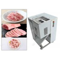 Quality Cooked Meat Cube Cutting Machine Manual For Meat Silk Processing , Stainless Steel for sale