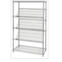 Quality Slanted Display Angled Metal Shelf Easier For Customer to See & Access Items for sale