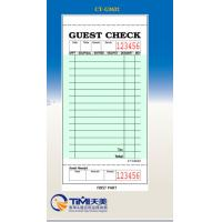 Quality CT-G3632 guest checks 1parts ,green color ,single board ,factory supply from China Timipaper for sale