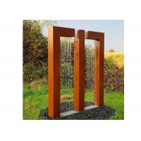 Quality Garden Decor Gate Design Corten Steel Fountain Water Feature Sculpture for sale
