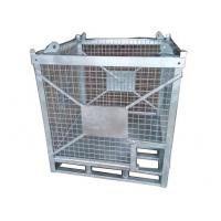 Quality 1500KG Capacity Steel Cage Box Hot Galvanized Mesh Cages For Storage for sale