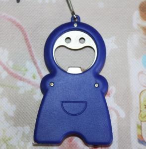 China Creative promotional gifts LED plastic Keychain D22 tape led opener KEYCHAIN WHOLESALE on sale