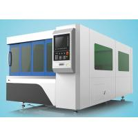Quality 1500W Fiber Laser Cutting Machine Single Table With Protection Cover for sale