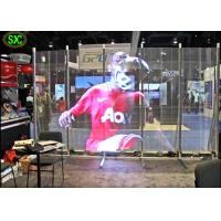 China Full Color Transparent Led Screen For Window Advertising , Glass Display Screen on sale