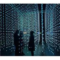 Quality 5m 25 dmx ball strings led point light pixel 3d globe curtain lights programmable decoration for sale