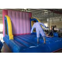Quality Outdoor Adults And Kids Sport Inflated Fun Games / Inflatable Velcro Wall for sale