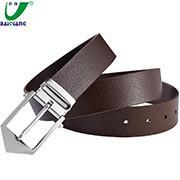 Quality Custom Logo Printing Designer Large Brown Mens Luxury Leather Dress Formal Belts for Men for sale