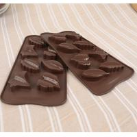Quality 3d Custom Hard Leaf Silicone Candy Molds 8 Cavity Light Weight Easy Cleaning for sale
