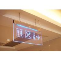 Quality Hanging Clear acrylic led emergency exit guiding sign board for sale