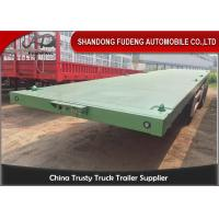 Quality 3 Axles Flatbed Container Trailer for Carry Container , Hoses , Cement Bags for sale