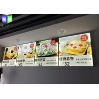 Quality Aluminum Indoor LED Menu Board Lightbox Energy Saving Two Years Warranty for sale
