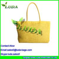 Quality Gold yellow beach summer paper staw handbag hand bag for sale