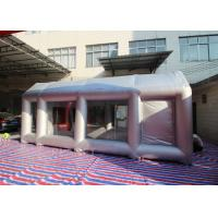 Quality Automobile Oxford Cloth Silver Inflatable Spray Booth With Removable Flooring for sale