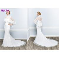 Quality BOHO Jecket Princess Bridal Gowns / Strapless Plus Size Princess Wedding Dresses for sale