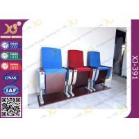 Buy cheap Three Seats Customized Strengthen Aluminum Auditorium Chairs With Square Plywood from Wholesalers