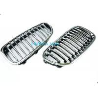 Quality Fiber Style Radiator Mesh Grille Mould With Chrom , Grille Molding For BMW E60 for sale