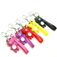 Quality Soft Touch PVC Plastic Custom 3D Bear Figure Key Chain Waterproof Use In Promotional Gifts for sale