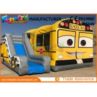 Buy cheap Customized Interactive Inflatable Bouncer Slide School Bus Shaped from wholesalers