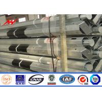 Quality 9M 3.8mm Electric Utility Power Poles With FRP , 150 250 450 500kg Load for sale