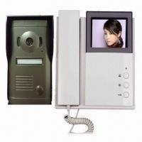 Quality Intercom Doorbell with 4-inch B/W and Color TFT LCD, Supports 2 Outdoor Stations for sale