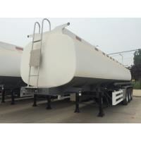 Quality 45000 Liters Oil Fuel Tank Trailer , Tri Axle Tanker TrailerCarbon Steel Body for sale