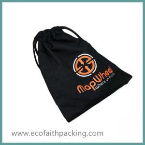 Quality black cotton drawstring shoes bag,cotton drawstring shoes pouch for sale