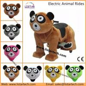 Quality walking robot ride animal rides mall motorized plush riding animals for sale