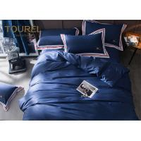Quality 100% Stone Washed Hotel Quality Bed Linen soft Linen dyed bedding set Dark Blue for sale
