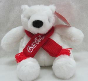 Quality Coca Cola Bear Polar Bear Plush Toys for sale