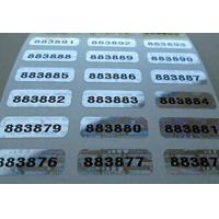 Quality Self Adhesive Security Sticker Labels Scratch Off Custom Printing for sale