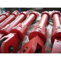 Quality Red Single Acting Hydraulic Ram Lifting Hydraulic Cylinder For Furnace for sale