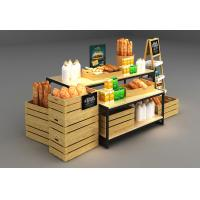 Quality Wooden Box Combination Design Shop Display Shelving With Metal Frame for sale