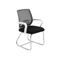 Quality White Metal Frame Student Armrest Mesh Office Chair for sale