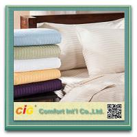 Quality Polyester / Cotton Hotel Bed Sheet Sets Home Textile Microfiber Printing for sale