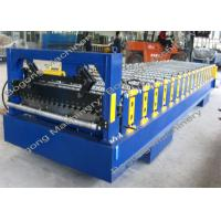China Metal Corrugated Roof Panel Roll Forming Machine 8 - 15m / Min Forming Speed on sale