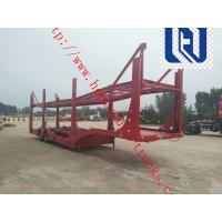 Quality 60T Manual Low Bed Trailer 3 Axles / Two single Trailer Truck for sale