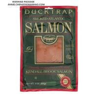 Quality Nylon / PE Laminated Customize Printing Vacuum Packaging Bags for Premium Smoked Salmon Packaging for sale
